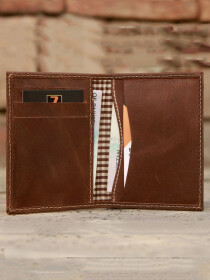 Genuine Leather Vintage Bi Fold Slim Fit Cash Card Holder