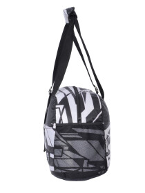 BLACK & WHITE STRIPS SHOULDER BAG