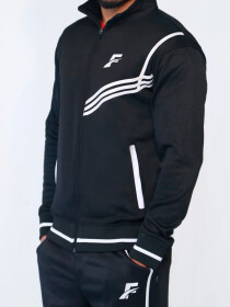 FIREOX  Black & White Polyester Tracksuit for Men