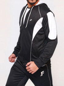 Black & White Active wear Hoodie for Men