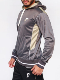 Dark Grey Active wear Hoodie for Men