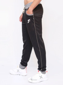 Black & Grey Active wear Trouser for Men