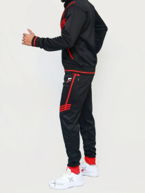 Black & Red Active wear Trouser for Men