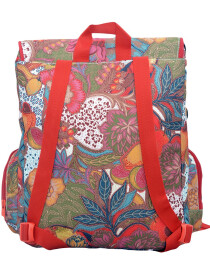 MULTI COLORED FLOWER BACKPACK