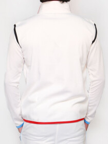 FIREOX White Polyester Sleeveless Sweater for Men