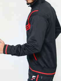 FIREOX Black & Red Polyester Jacket for Men