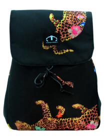 BLACK LEOPARD MINI BACKPACK