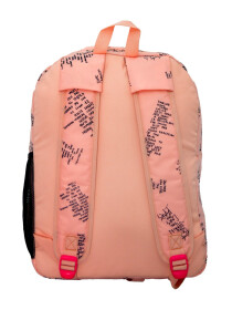 PINK LETTER BACKPACK