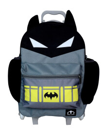 GREY & BLACK BATMAN TROLLEY BACKPACK