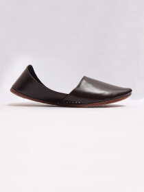 Dark Brown Leather Khussa