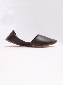 Dark Brown Pure Leather Khussa