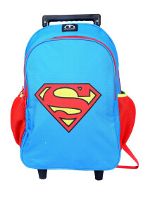 BLUE SUPERMAN TROLLEY BACKPACK