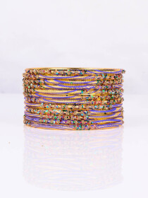 Multi Colored Aluminium Sprinkle Bangles