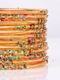 Gold Aluminium Sprinkle Bangles