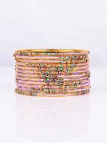 Pink Aluminium Sprinkle Bangles
