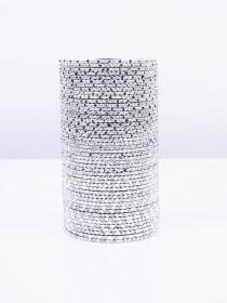 Silver Grey Foxtrot Aluminium Bangles