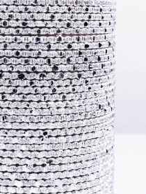 Silver Grey Foxtrot Aluminium Bangles (12 Pieces Set)