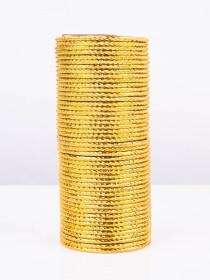 Gold Knockout Aluminium Bangles