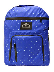 BLUE AND WHITE POLKA DOTS BACKPACK