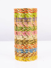 Multi Colored Mixer Aluminium Bangles (Complete Set)