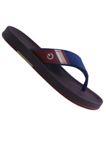 Cartago Brown Blue Slipper for Men