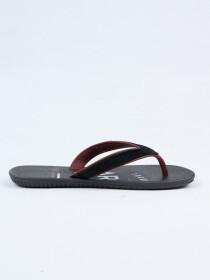 Cartago Grey Burgundy Black Slipper for Men