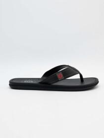 Cartago Black Dark Grey Slipper for Men