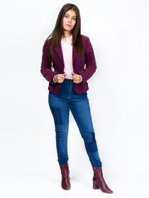 Blue Stretch Patched Denim Jenna Jeans