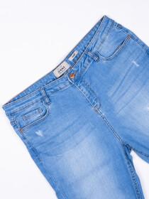 Light Blue Ripped Stetch Denim Jenna Jeans