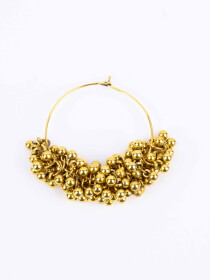 Golden Kajra Hoops