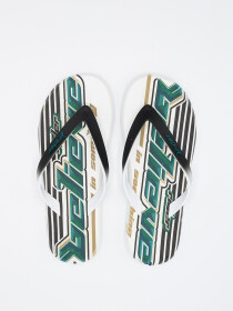 R1 Energy White Black Green Men Flip Flops