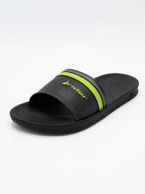 Men Black Green Slide