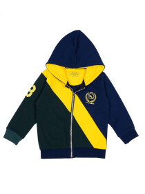 Green & Yellow Zipper Hoody