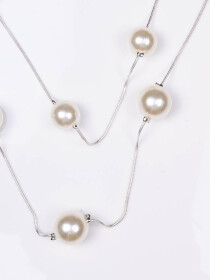 Double Layer Simulated Pearl Necklace