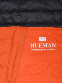 Grey Orange Sleeveless Puffer Gilet Jacket