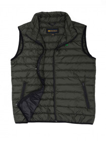 Olive Black Sleeveless Puffer Gilet  Jacket