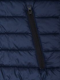 Navy Blue Grey Sleeveless Puffer Jacket