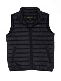 Black Olive Sleeveless Puffer Gilet  Jacket
