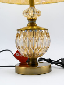 A Pair of Glowo Antique Gold Metal Buffet Table Lamp