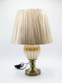 A Pair of Dale Tiffany Crystal Globe Table Lamp