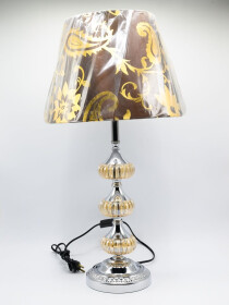 A Pair of Glowo Spectrum & Stylish Crystal Table Lamp