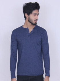 Blue Denim Cotton Jersey for Men