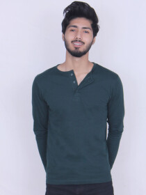 Jade Green Cotton Jersey for Men