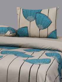Printed Cream Color Bed Sheet With Two Pillow Covers