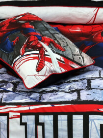 Printed Spider Man Single Bed Sheet With One Pillow Cover