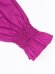 Smocking Top Purple For Girls