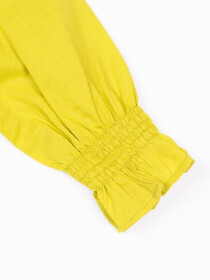 Smocking Top Yellow For Girls