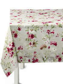 Floral White Table Cover