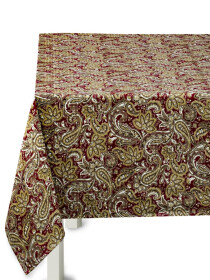 Floral Brown Table Cover
