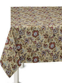 Floral Cream Table Cover